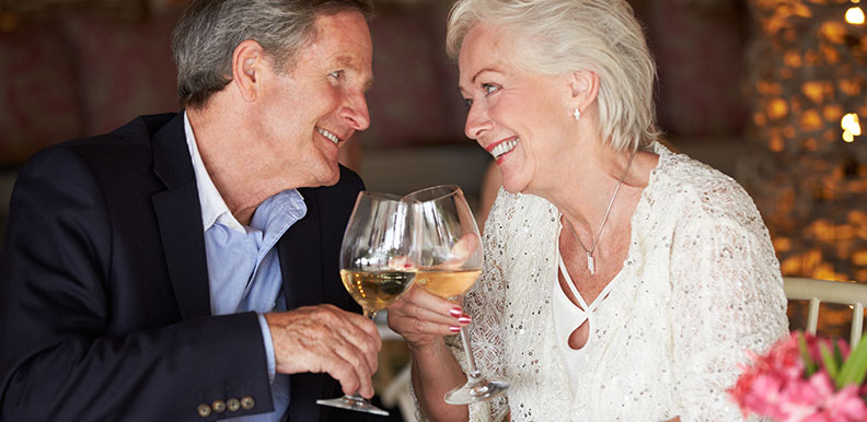 Senior Couple Enjoying Meal